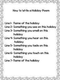 Reading and Writing a Holiday Poem for March