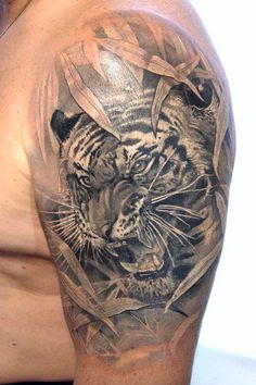 Stunning Tiger Tattoo.......... customtattoodesign.ca