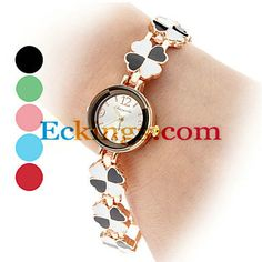 Women's Clover Style Alloy Analog Quartz Bracelet Watch (Multi-Colored) : Online Shopping for Watches, Toys & more