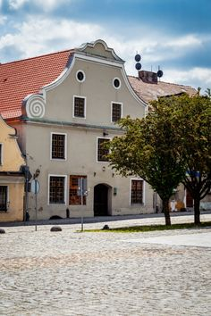 Baroque house (currently hosting The Wlocawek History Museum) on the Old Market Square, Wloclawek, Poland