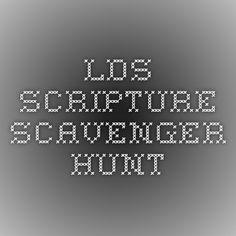 LDS Scripture Scavenger Hunt
