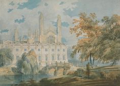 Clare Hall and King's College Chapel, Cambridge, from the Banks of the River Cam, by Joseph Mallord William Turner, 1793. Watercolor on paper.