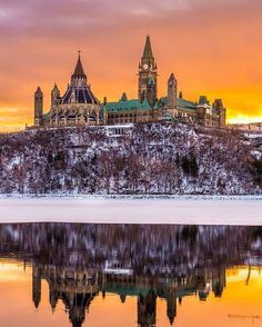 reflections of Parliament Hill