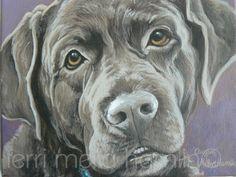 Dog Portrait Pet Portrait Custom Pet Portrait Painted by MeliaArts, $85.00