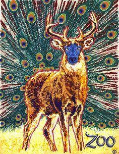 The Peacockalope (peek a lope) by Adam-Scott-Miller on DeviantArt