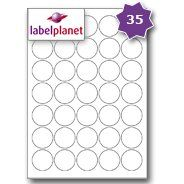 Can use these to print personal labels and stick onto the envelopes for invites etc. 35 Per Page/Sheet, 5 Sheets (175 ROUND Sticky Labels), Label Planet® White Blank Matt Self-Adhesive A4 Circular Circle Price Pricing Sticker...