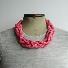 Six Cord Knitted Necklace Choice of colours por AAliciaAccessories
