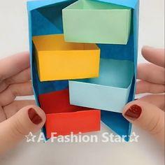 Amazing Paper Storage Box DIY✰A Fashion Star✰ - Geburtstagskarte Diy Diy Craft Projects, Diy Crafts Hacks, Diy Crafts For Gifts, Diy Home Crafts, Diy Arts And Crafts, Fun Crafts, Decor Crafts, Amazing Crafts, Creative Crafts
