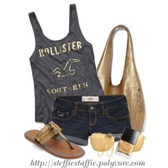"""Charcoal Gray & Gold"" by steffiestaffie on Polyvore"