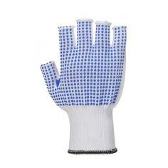 Ujjatlan polkadot kesztyű - fehér/kék