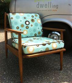 Baumritter Chair -- love the fabric