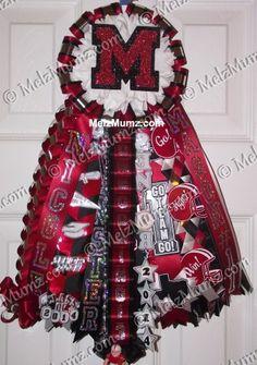 MelzMumz.com Basic Homecoming Garter.  Unique Original Custom Homecoming Mum Designs by Melz Mumz