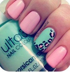 i would substitute the pink nails for black, blue nail for white, and pink inside cheetah for gold.