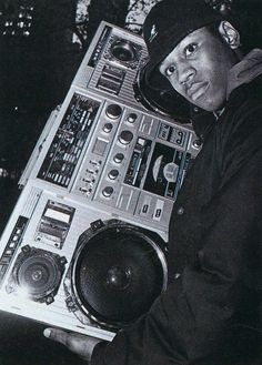 LL Cool J Ghetto-blaster - 1984 - Photography by Glen Friedman
