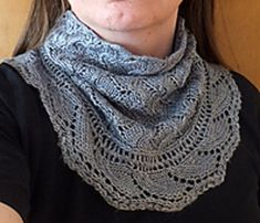 Mistarille cowl and cuffs by Maria Näslund in sport weight.  My favorite lace cowl.