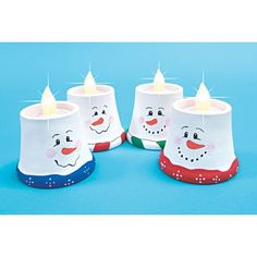 Mary Maxim - Snowman Votives Craft KitThis quartet of smiling snowmen will add a special glow to your festive season
