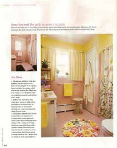 Delicieux Pink And Yellow Bathroom   July 2008 Issue Of Real Simple Magazine