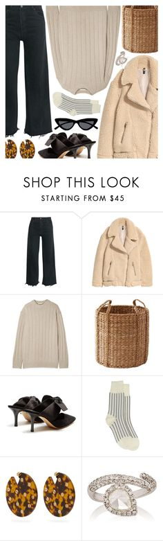 """Untitled #7012"" by amberelb ❤ liked on Polyvore featuring RE/DONE, The Row, Christian Louboutin, Comme des Garçons, Vanda Jacintho, Zoe and Le Specs"