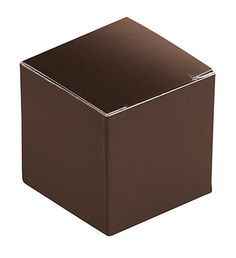 CLOSEOUT Folding Carton, Anytime Box, Square, Chocolate, 1-Piece, QTY/CASE-50