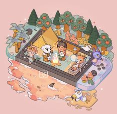 cute animals to draw Animal Crossing New Horizons: Waiting for Summer Animal Crossing Fan Art, Animal Crossing Memes, Animal Crossing Villagers, Animal Crossing Qr Codes Clothes, Nintendo Switch Animal Crossing, Animation, Activity Village, Wallpaper Fofos, Art Mignon