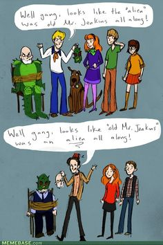 Maybe this is why I love Doctor Who so much: because I loved Scooby Doo. Maybe everyone who enjoyed Scooby Doo will inevitably enjoy Doctor Who.