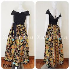 ❌DRESS SOLD❌HARGA 838.000 (XL keats, max Ld 120, HARGA 958.000) ✅Bahan 🔅batik hand print 🔅brokat fatmawati 🔅tile 🔅satin velvet 🔅CUP BRA 🔅furing kaos Prom Dresses Long Modest, Best Maxi Dresses, Yellow Bridesmaid Dresses, Wrap Dress Outfit, Dress Outfits, Dress Up, Model Dress Kebaya, Dress Batik Kombinasi, Dress Brokat