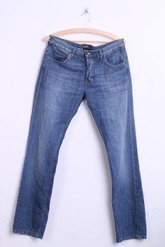 Lee Mens W32 L32 Jeans Trousers Knox Cotton - RetrospectClothes