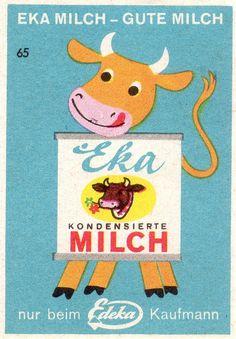 west german matchbox label