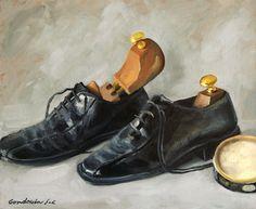 Les chaussures de ville, huile de Jean-Christophe Gondouin