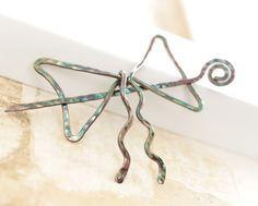 copper scarf pin