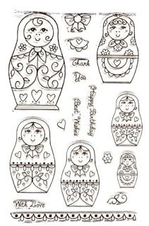 Valderna: Punto de cruz matryoshka. These can be used as coloring pages.