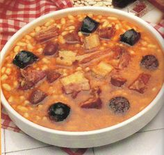 Fabada Asturiana or simply fabada, is originally from the northern Spanish region of Asturias. However its consumption has spread all over Spain and is recognized as one of the most important dishes of the Spanish cuisine par excellence.