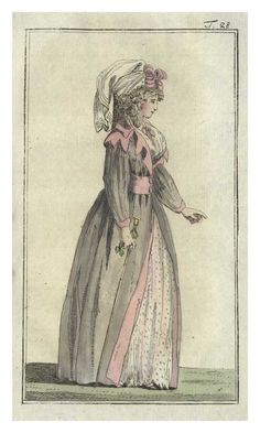 Fashion plate from Journal des Luxus, 1788.