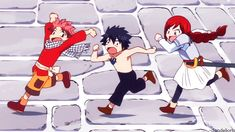 Fairy Tail- Natsu, Gray, & Erza as kids: Someone ate Erzas cake xD