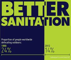 Fascinating Infographic on the Progress of Sanitation Around the World! #sanitation #infographic