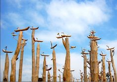 Torii: Markenzeichen der kami – Religion-in-Japan Religion In Japan, Wooden Bird, Korean Art, Land Art, Deities, Park, Birds, Crafts, Decor