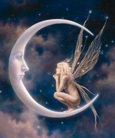 Fairy on the moon!