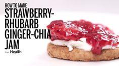 How to Make Strawberry-Rhubarb Ginger-Chia Jam