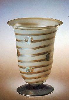 Otto Prutscher (1880-1949), Johann Lötz Witwe, Iridescent Glass Vase, 1910.