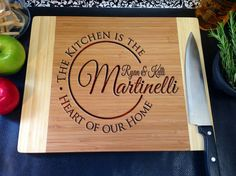 Personalized Cutting board The Kitchen Is the by LetsEngraveIt, $35.00