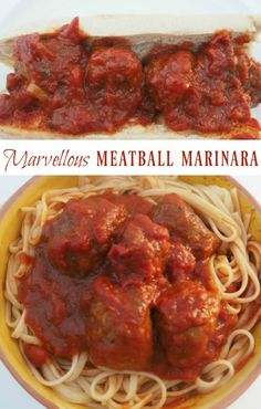 Marvellous meatball marinara - easy to make and perfect to go with spaghetti or…