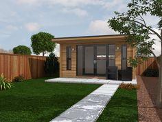 5m x 4m Garden Room with horizontal cladding
