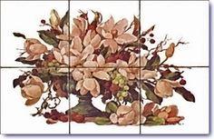 Magonolias Design on Tiles