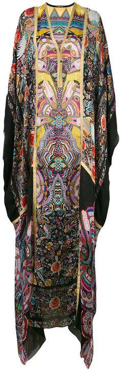 Roberto Cavalli allover print kaftan dress