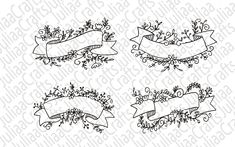 Leaf Border, Floral Banners, Laurel Leaves, All Design, Wedding Flowers, Ribbon, This Or That Questions, Party, Shop