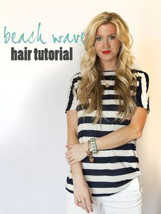 Beach Wave hair tutorial