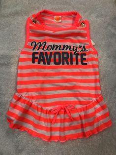 Dog Dress Size L Pet Puppy Clothing Wear Mommys Favorite Orange White  | eBay #PuppyClothes