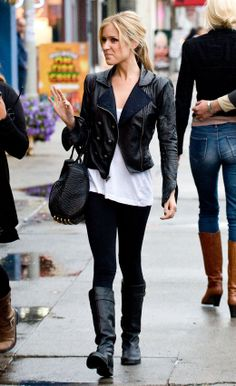 Kristin Cavallari- ALC leather jacket love her style