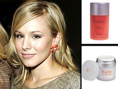 The Veronica Mars star caught up with PEOPLE's StyleWatch and gave us the inside dish on how she gets her skin so glowing. For her fair coloring, she uses Jane Iredale PurePressed Base in Amber.