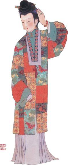 costume china tang han Ming yuan fashion history Wei-Jin Sui Five Dynasties Qing